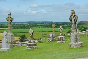 Cemetery at Rock of Cashel. Cashel, Co. Tipperary, Ireland.