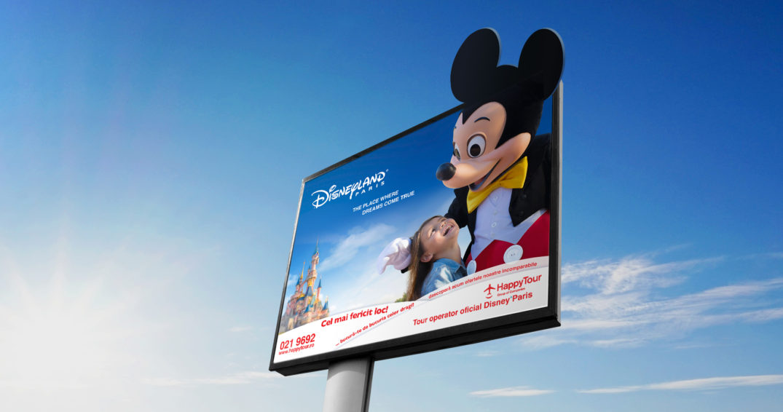Happy Tour Disneyland The Mansion Advertising