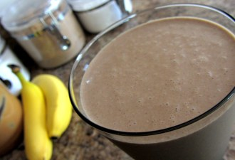 Peanut Butter & Oatmeal Ninja Chocolate Smoothie