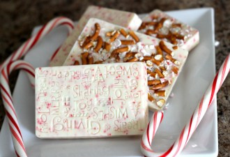 Candy Cane and Pretzel Holiday Bark
