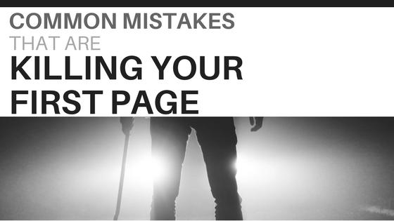 first page mistakes-www.themanuscriptshredder.com