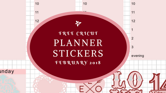 Free Cricut Planner stickers February 2018