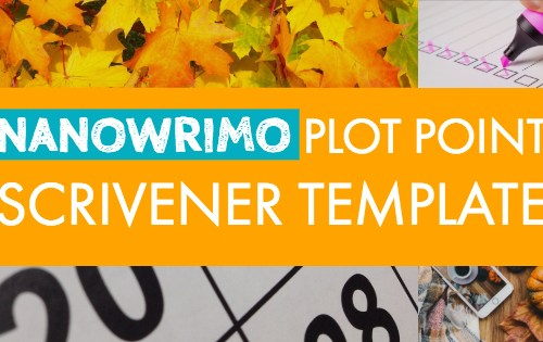 NaNoWriMo Plot Point Scrivener Template-www.themanuscriptshredder.com