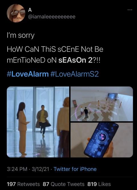 love alarm season 1 tweet