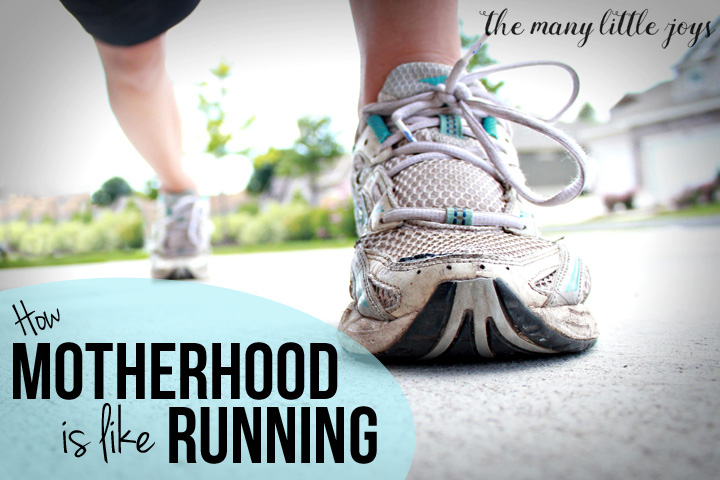 Have you ever thought about how each day of motherhood is like a morning run? Here's what I realized while running.