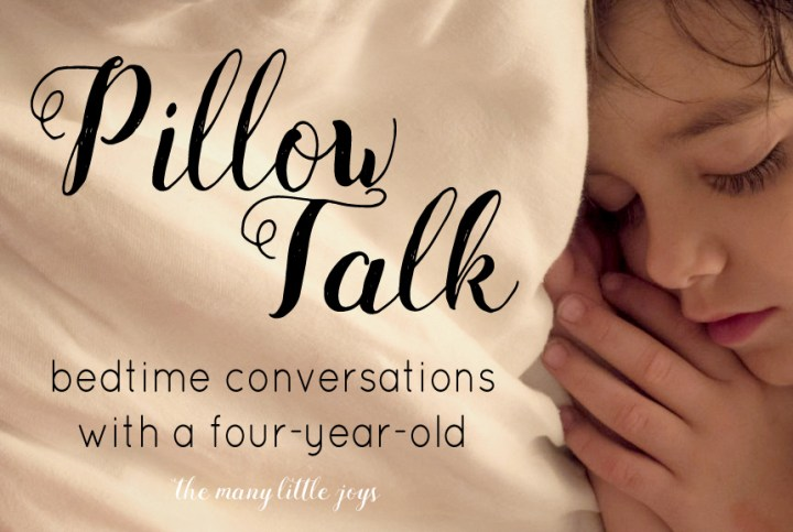 Bedtime conversations with my four-year-old have become a cherished way to connect with my son and build sweet simple memories together.