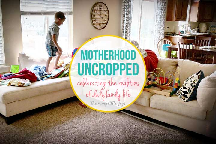 """In a virtual world of """"Pinterest perfection,"""" let's remember to celebrate the beauty of the everyday, imperfect realities of life and motherhood, even when they don't seem particularly share-worthy."""