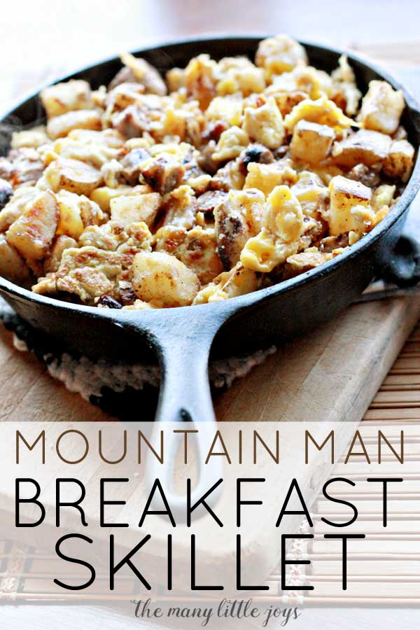 This super-hearty breakfast skillet is filled with potatoes, eggs, sausage, cheese, and my favorite seasoning in the world. It comes together in under 30 minutes and is a great way to start the day....or to finish the day by making it breakfast for dinner.