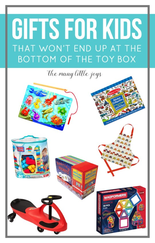 What do you get the child who already has way too many toys? This gift guide for young kids will help you pick a gift that will be worth buying and won't get lost in the depths of the toy box within a week.