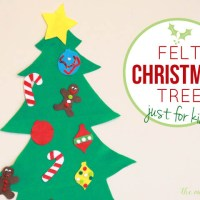 Felt Christmas tree for kids (with printable templates)