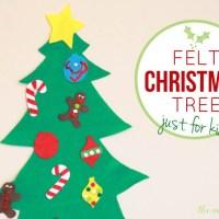 Felt Christmas tree for kids (with printable templates)