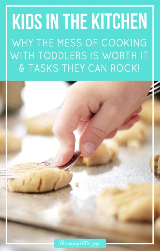Even though it is often messy, involving your kids in the kitchen is a great way to involve them in real-life learning without spending a lot of extra time or money.