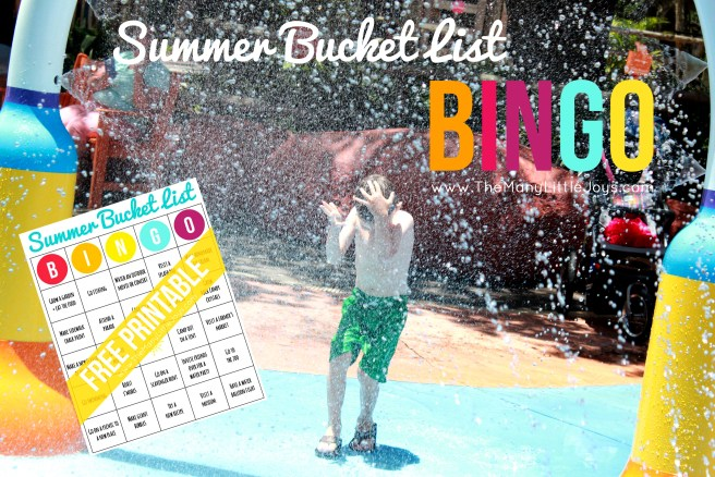 Plan a fun-filled summer for your family with this free printable summer bingo game. Use my version, or customize it with your own bucket list to keep track of all your summer adventures!