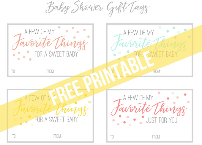 A Practical Baby Shower Gift Perfect For Any Mom To Be With Free Printable Gift Tags The Many Little Joys
