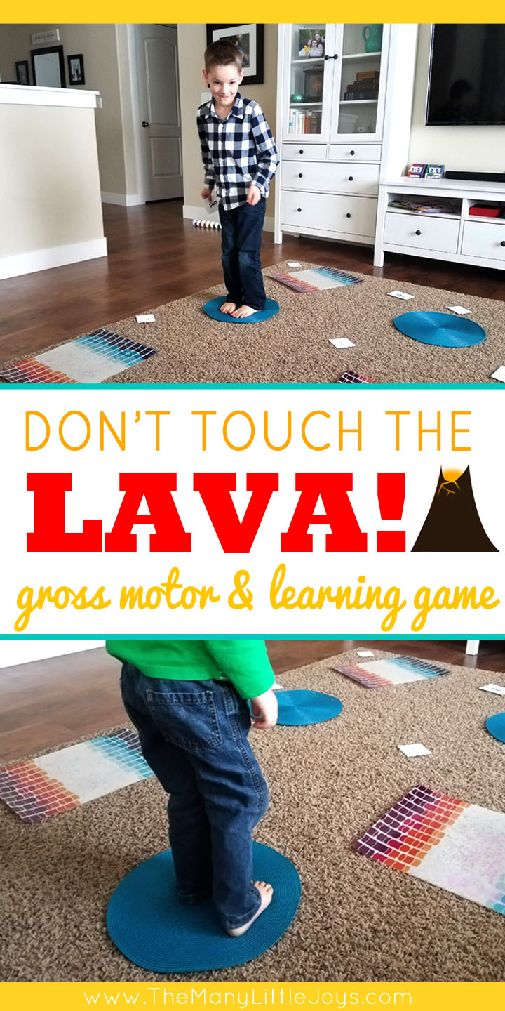 "Little boys love anything dangerous...and if you can't beat 'em, join 'em! This engaging preschool learning game is a great way to get kids to practice academic skills in the context of a ""death-defying""  challenge."