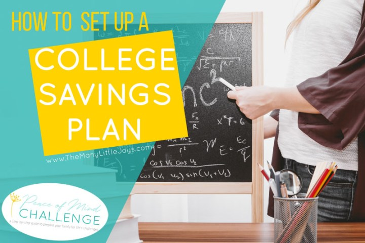 College is getting more expensive each year. Will your kids be able to afford the cost? In this month's installment of the Peace of Mind Challenge, get a step-by-step guide to help you decide how best to save for your child's college education.