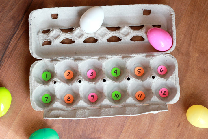 Looking for a fun Easter-themed learning activity for your preschooler? Encourage your preschooler to practice number identification and counting skills using thistwist on a traditional Easter egg hunt your child will love!