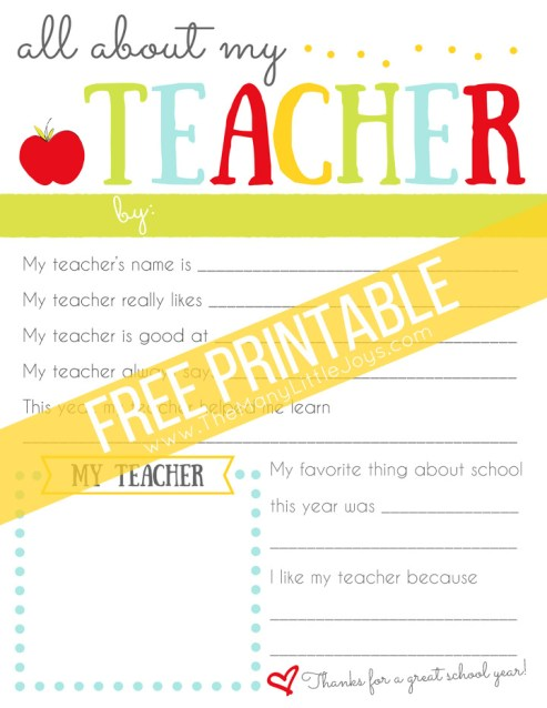 Wondering what to get your child's teacher as a thank you for teacher appreciate week or at the end of the school year? This simple and meaningful teacher appreciation gift will make your child's teacher laugh and cry all at once!