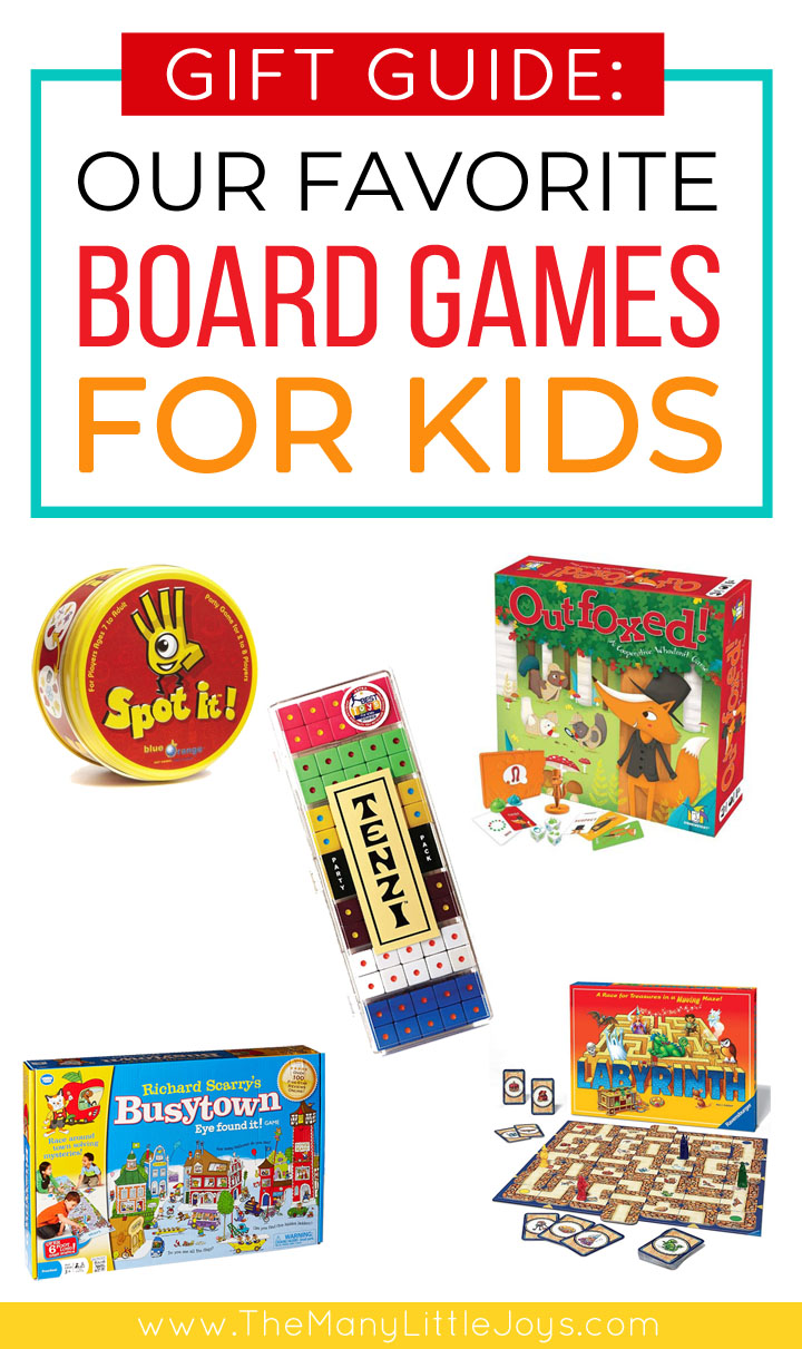 If you love a good family game night but are in a rut, this gift guide has you covered. These are our family's favorite board games for kids, complete with age recommendations.