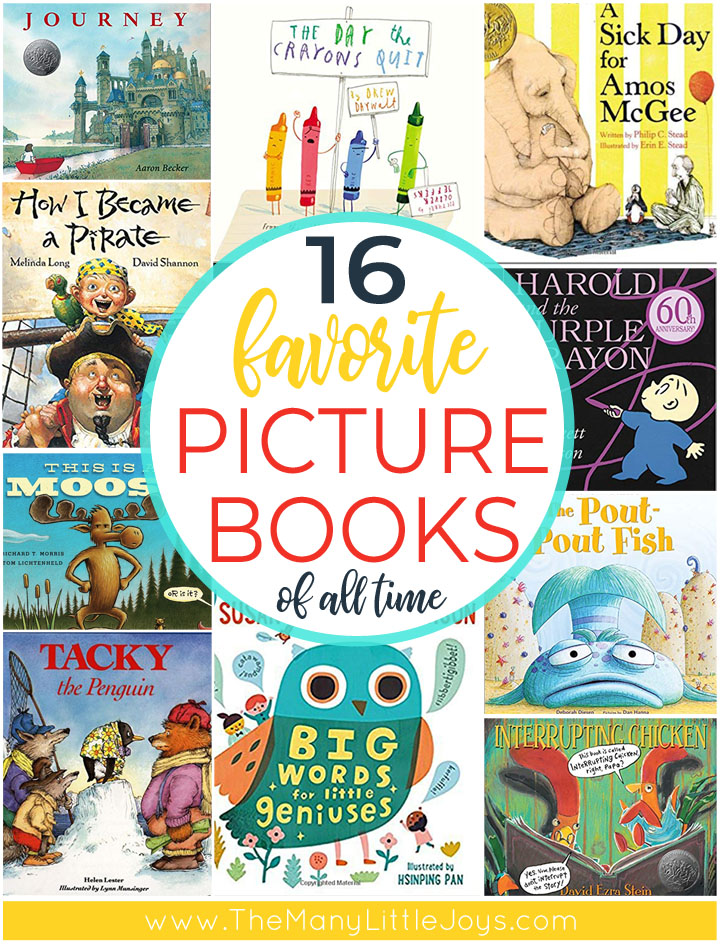 If you love kid lit, these 16 favorite children's picture books are absolute must-haves. They are the ones I could (and have) read hundreds of times and never get tired of them.