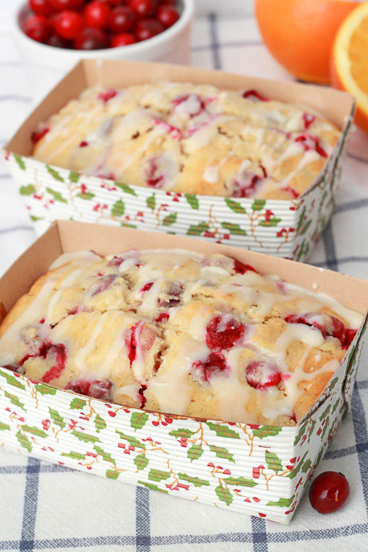 This festive cranberry orange bread recipe is simple to make and makes a perfect neighbor gift or Christmas morning breakfast.