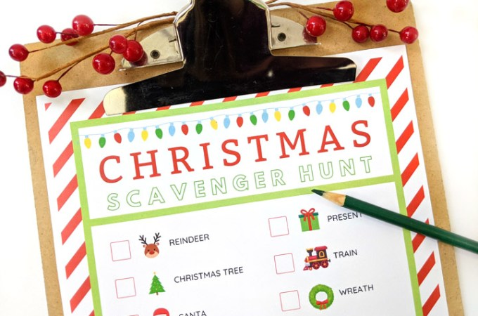 This free printable Christmas scavenger hunt pack is a simple way to get festive with the family this season. Print once, and use it four different ways for hours of holiday fun!
