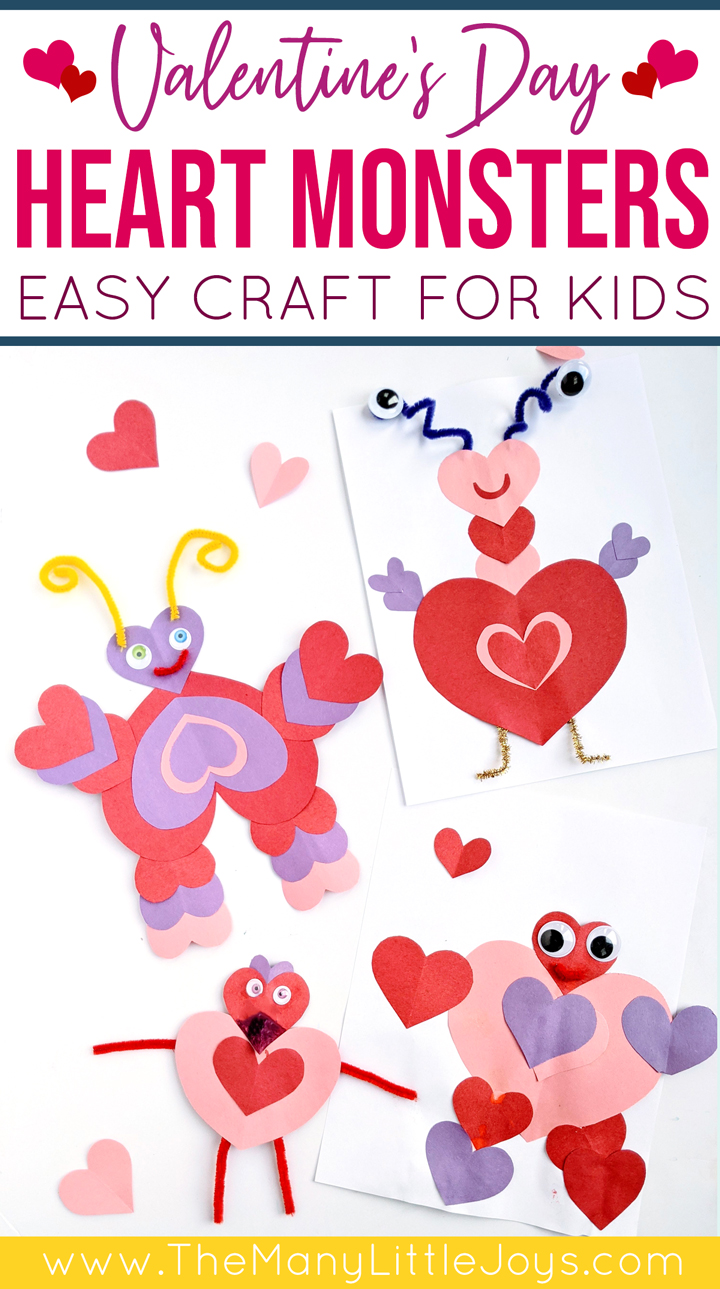 This easy Valentine's Day craft for kids is fun for all ages, and it's simple enough that even toddlers can do it independently!