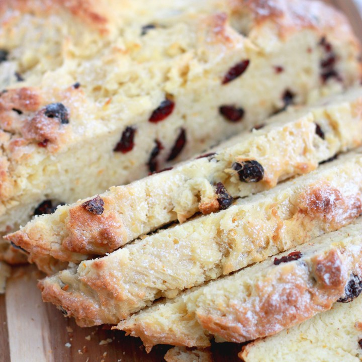 Cranberry Orange Irish Soda Bread