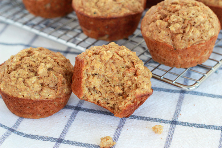 These healthy muffins are packed with veggies and whole grains, and--even better--they taste really, really good. Even picky eaters are sure to love them!