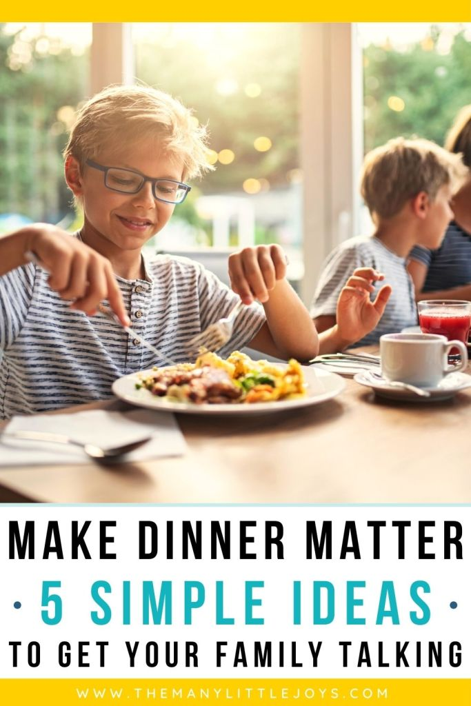 If your family dinnertime is in need of a little makeover, try one of these simple activities to get everyone talking and laughing together. Make dinnertime matter!