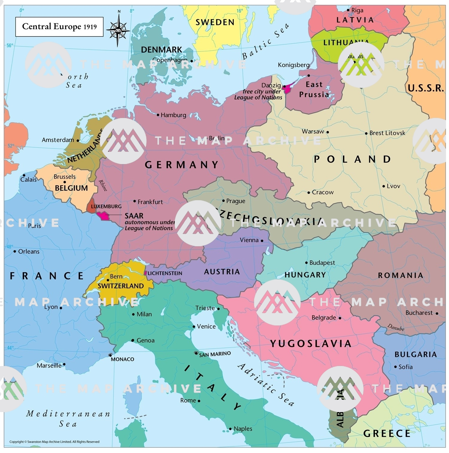 Central Europe 1919