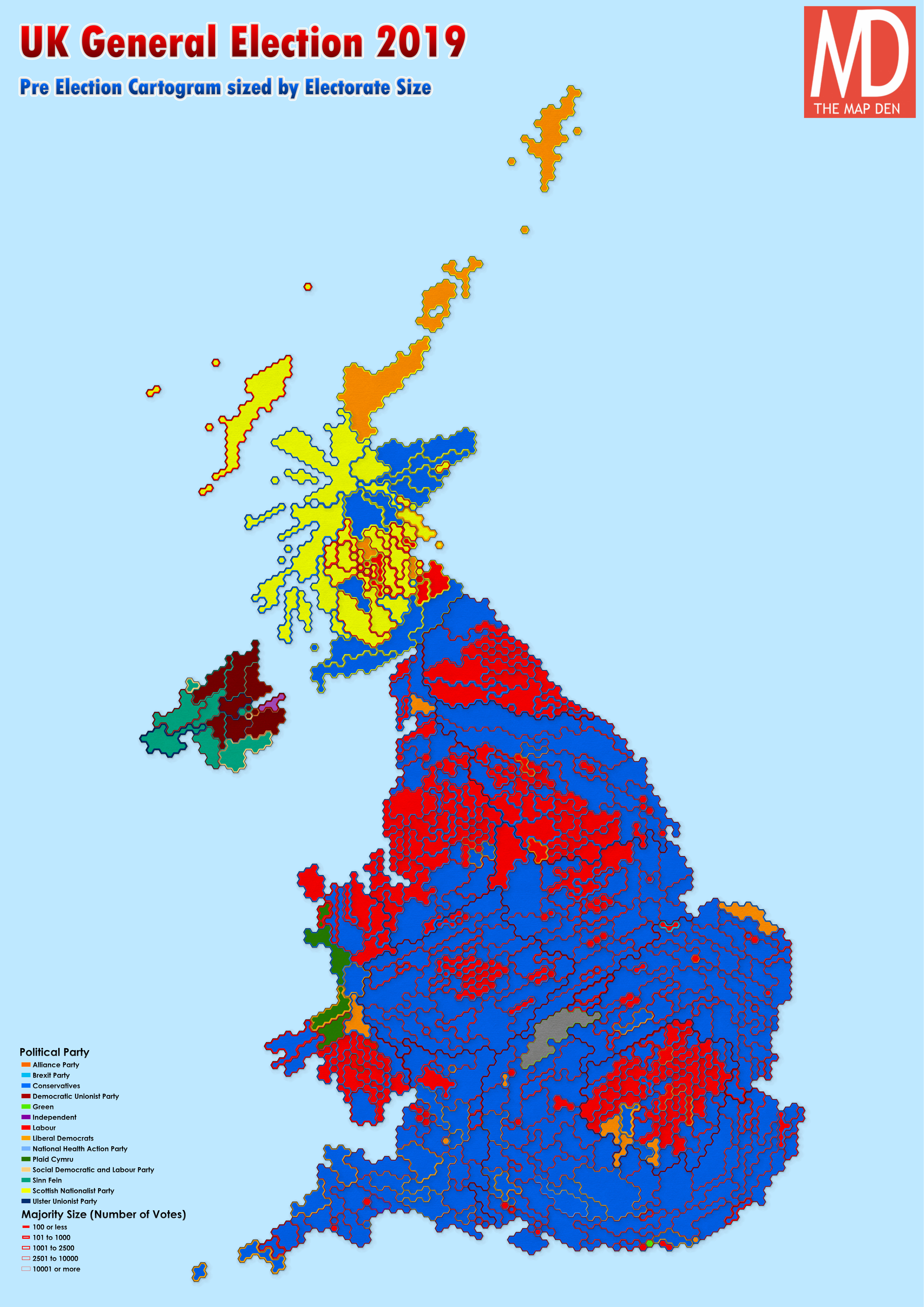 Uk General Election 2019 Maps And Cartograms The Map Den