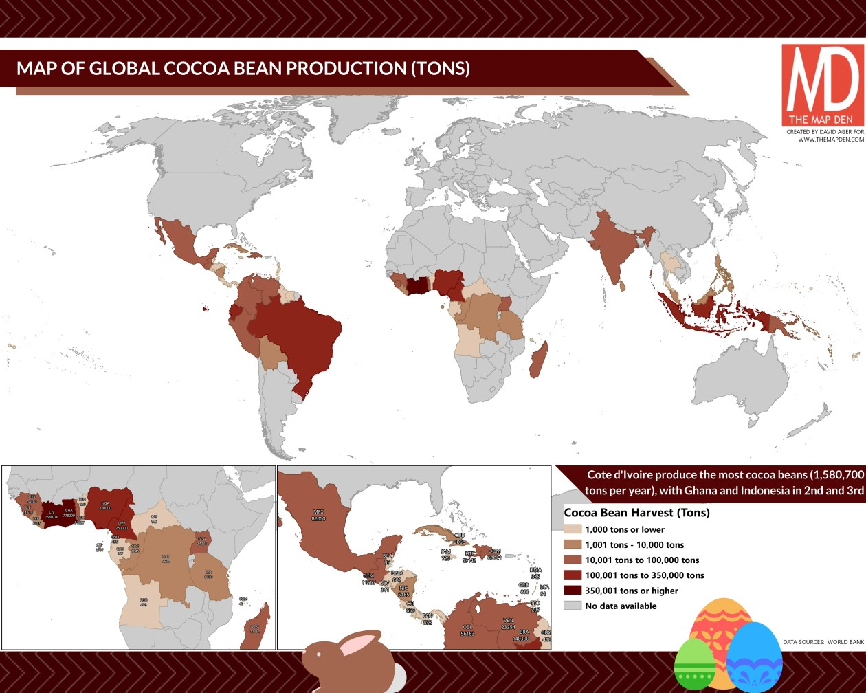 Global Cocoa Bean production (2016)