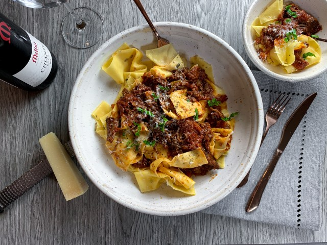 Rosemary Pappardelle Ragu