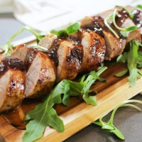 Maple Balsamic Glazed Pork Tenderloin