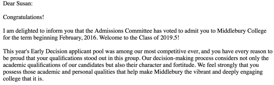 acceptance letter to Mid