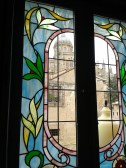 The cathedral through the glass