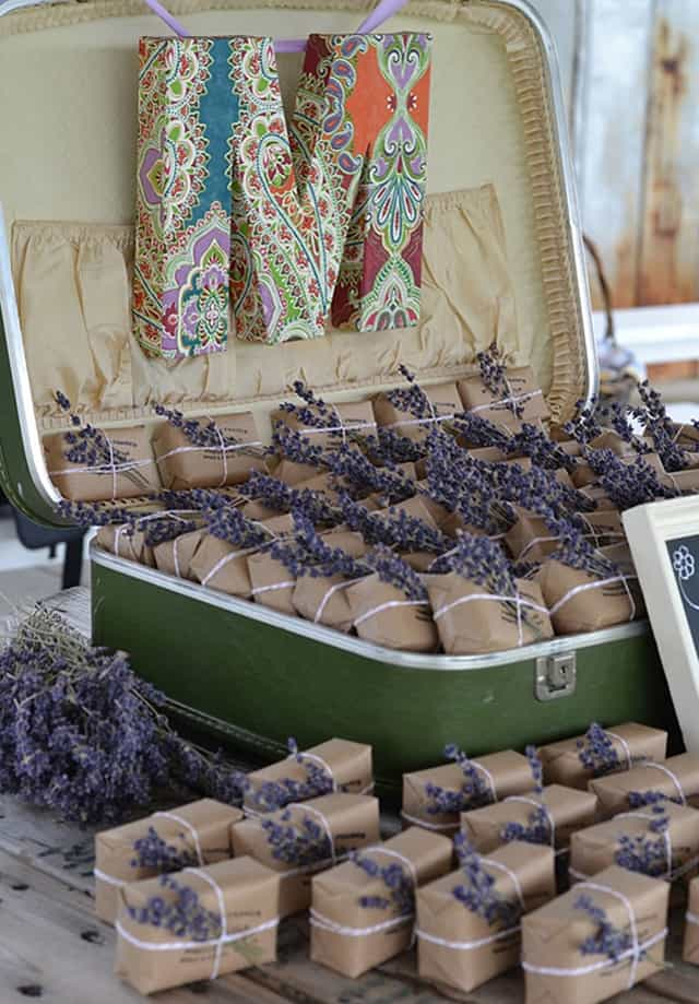 Homemade Lavender Soap Wedding Favors