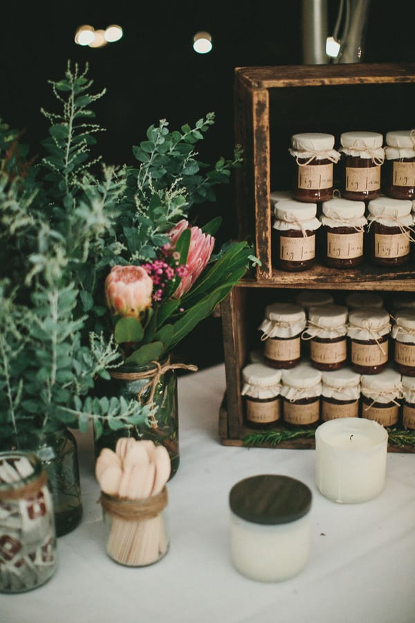 Jam Jar Wedding Favors