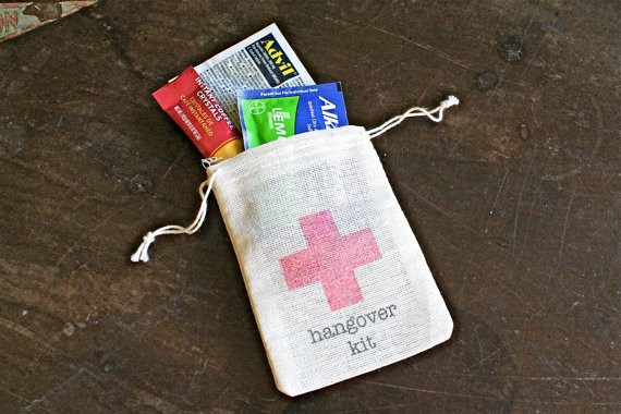 Hangover Kit Wedding Favors