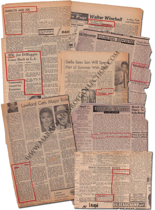 Marilyn Monroe S Personal Newspaper Clippings