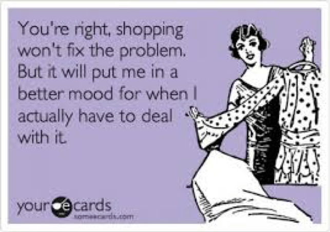 retail therapy meme better mood
