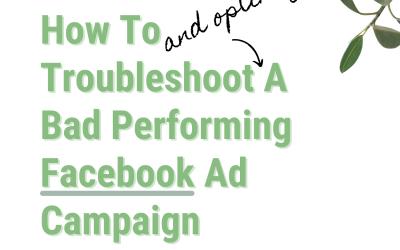 Poor Performing Facebook Ad Campaign