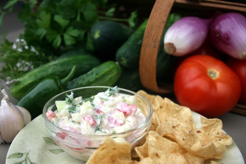 Crisp Cucumber Salsa from Market Lady Susan Pittman