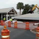 The market shops is under construction