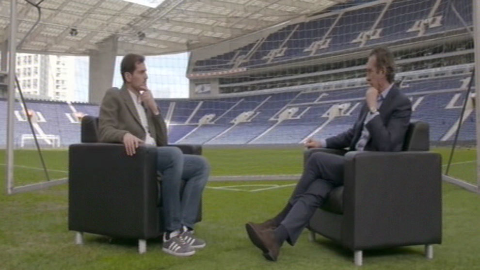 Iker Casillas and Jorge Valdano.