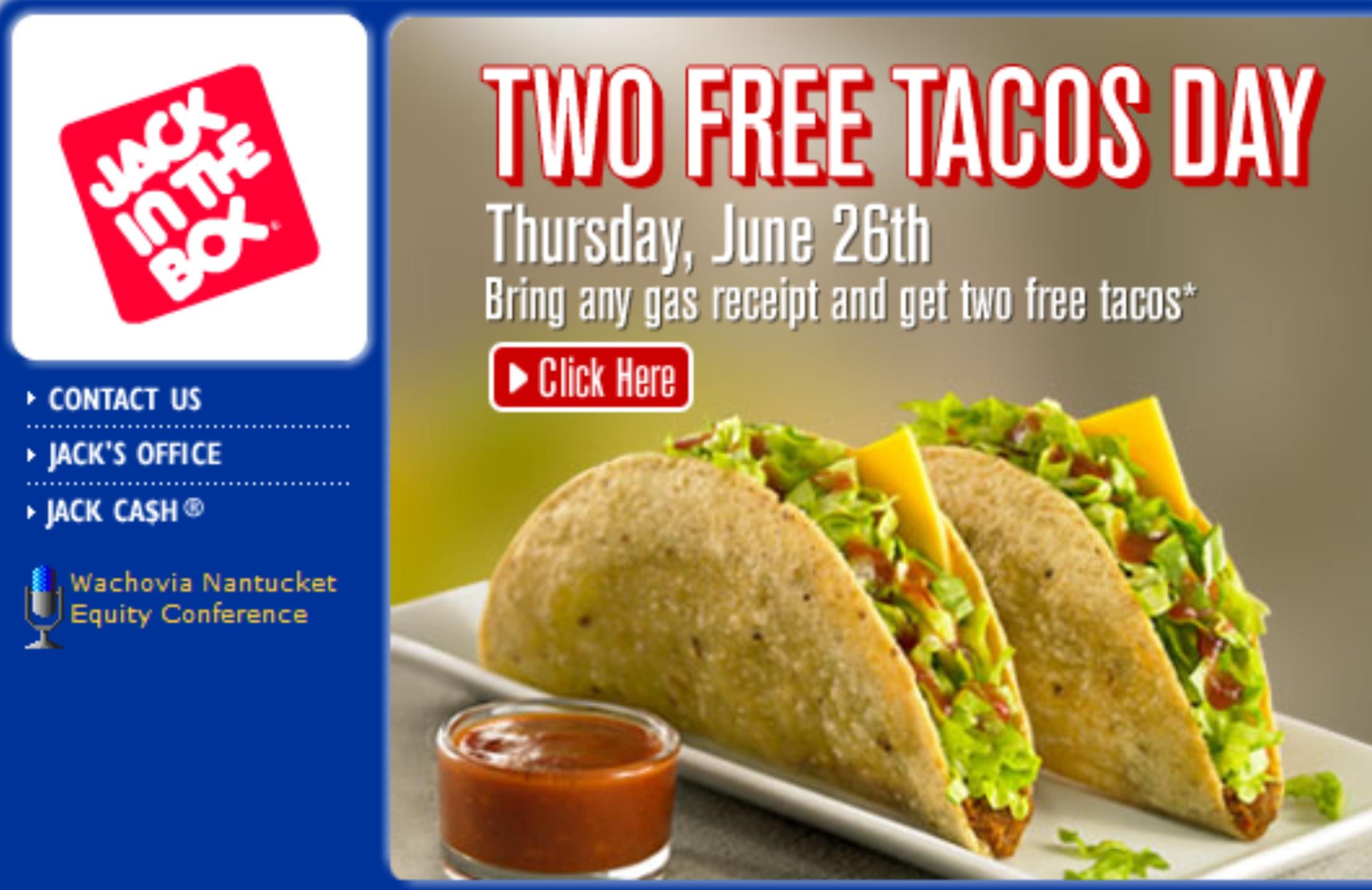 Free Taco day