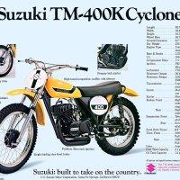 Suzuki TM dirt bikes.