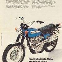 1970 Honda Scrambler 450.