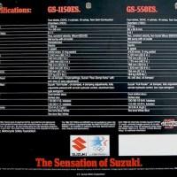 1984 Suzuki GS 1150ES / 550ES.